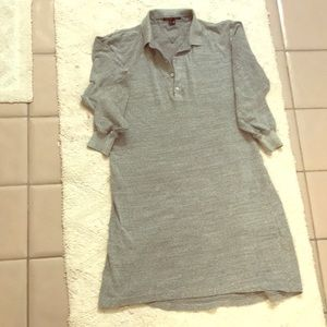 Theory gray shirt dress